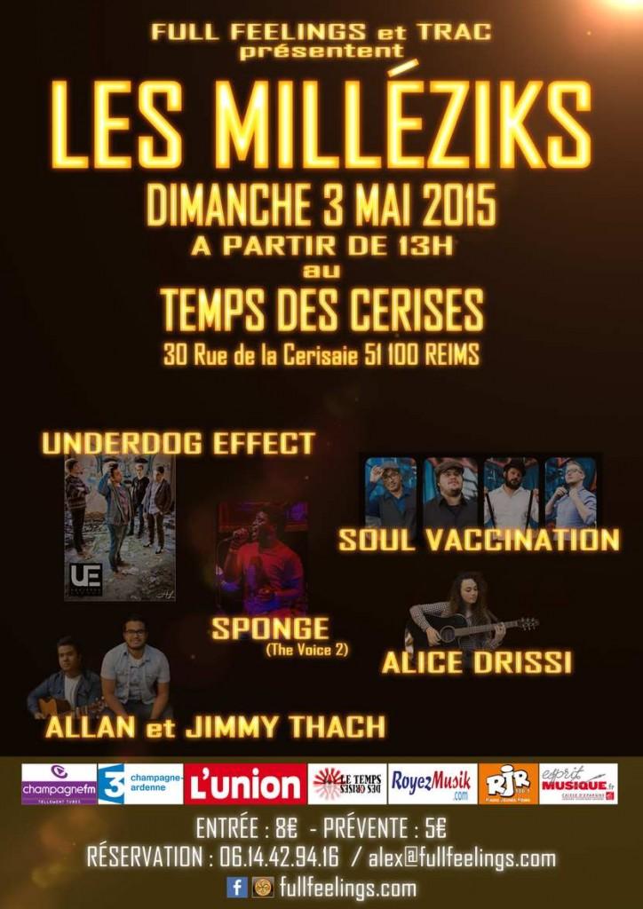 AFFICHE FESTIVAL - les-MILLEZIKS - Minerve web studio