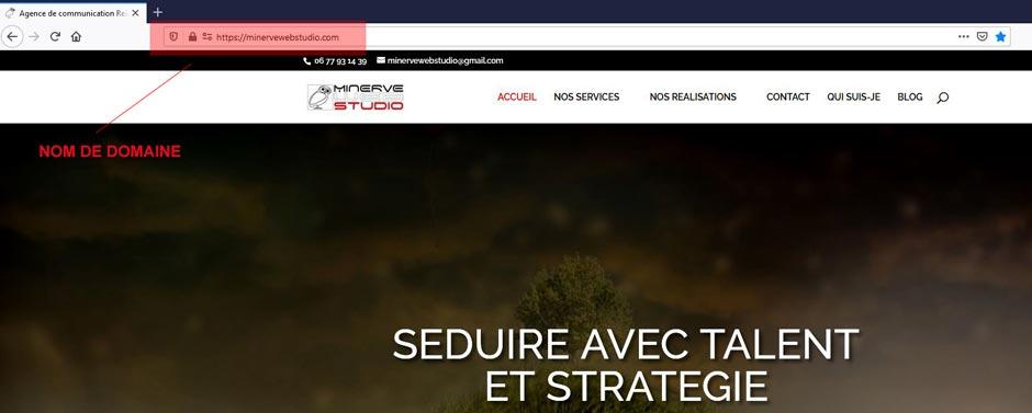 Nom de domaine Minerve web studio